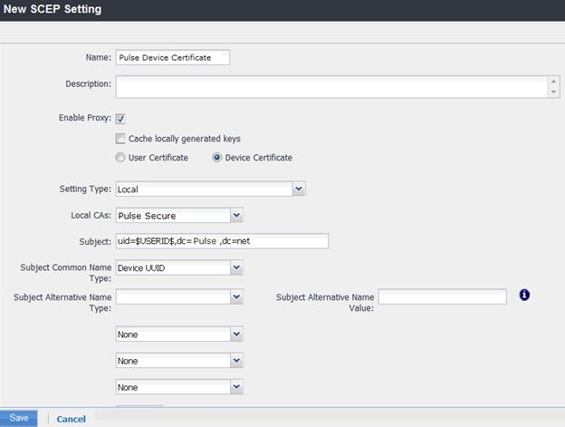 Configuring the MobileIron MDM Service