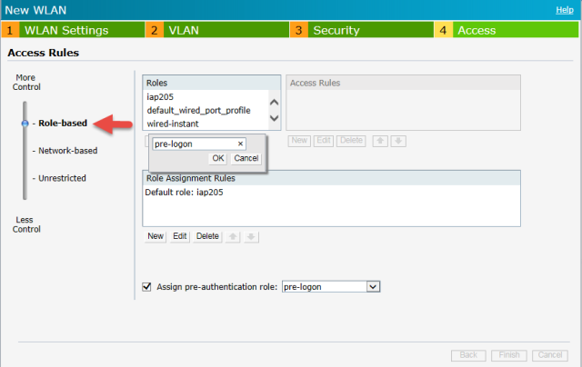 Configuring Aruba Instant Access Point