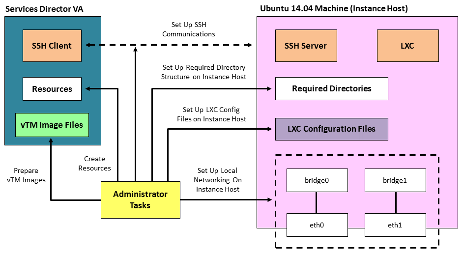 Using an Instance Host with a Services Director VA