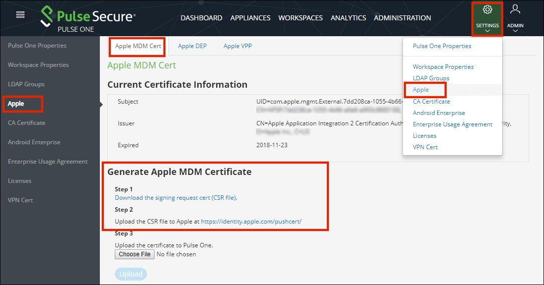 Adding An Apple Mdm Certificate